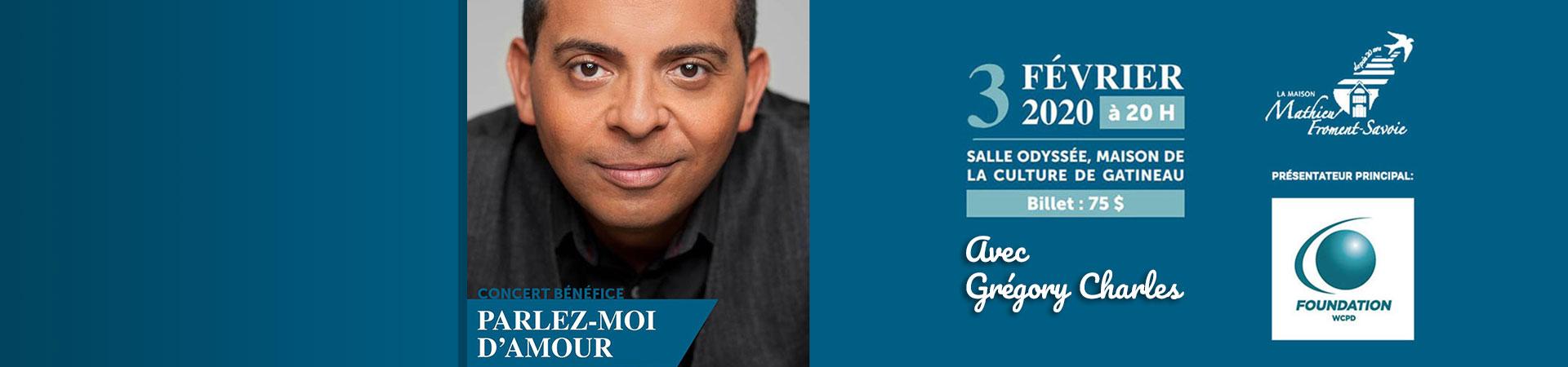 Concert 3 février Gregory Charles